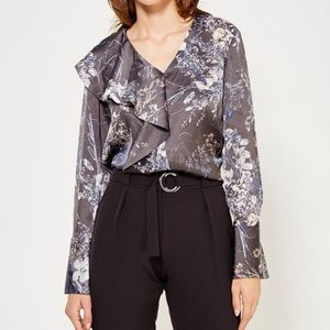 Banana Republic Japanese Floral Print Blouse